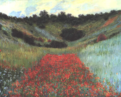 Red Poppy in a Valley at Giverny